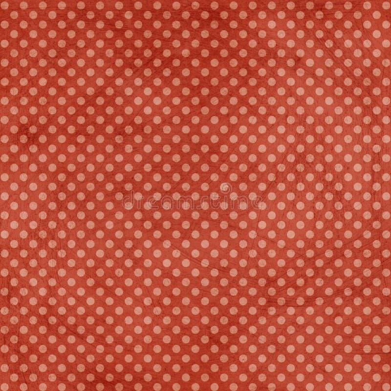 红色破旧的被察觉的圣诞节背景 皇族释放例证