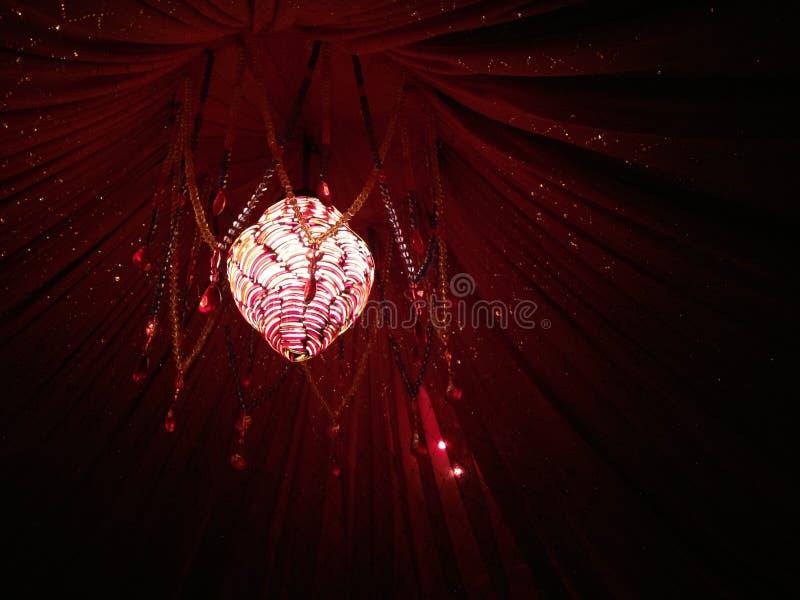 红色水晶灯 免版税库存照片