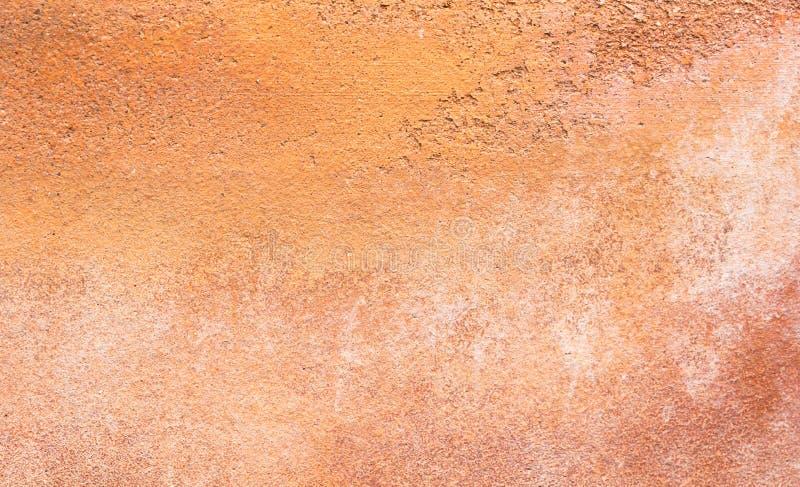 红色水泥墙壁背景 免版税库存图片