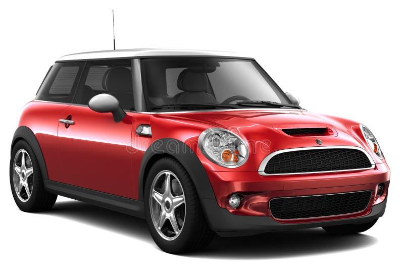红色经济汽车 向量例证