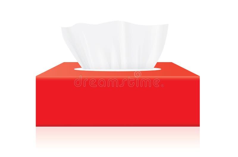 红色组织箱子嘲笑 皇族释放例证