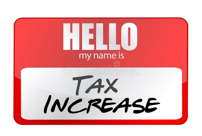 红色贴纸你好我的名字是税增量概念 库存例证