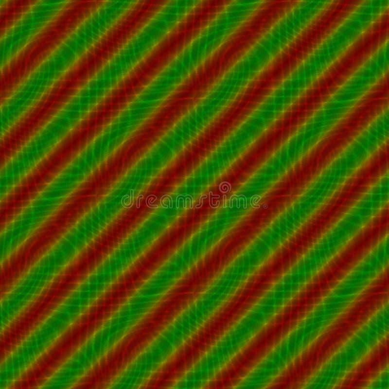 红色绿色倾斜镶边背景 库存例证