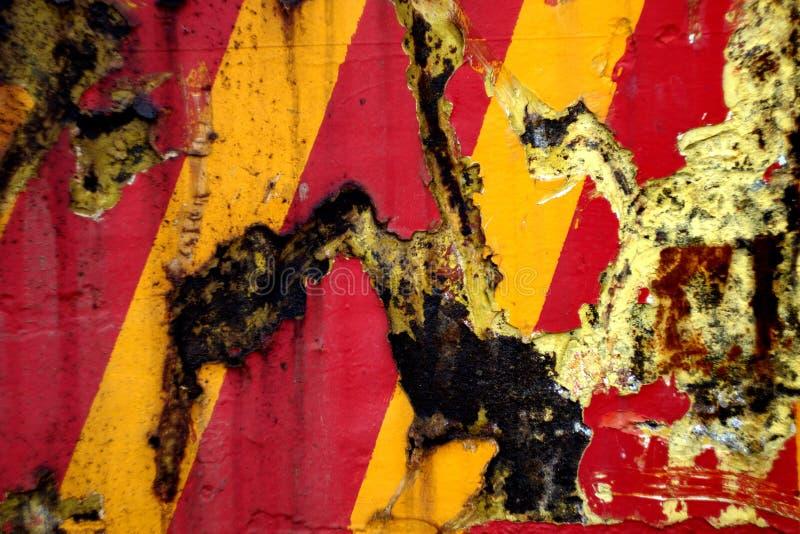 红色黄色条纹 库存照片
