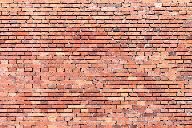红色brickwall背景 免版税图库摄影