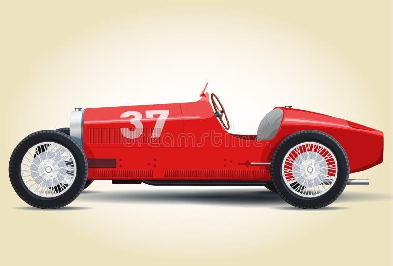 红色Bugatti 37A 皇族释放例证
