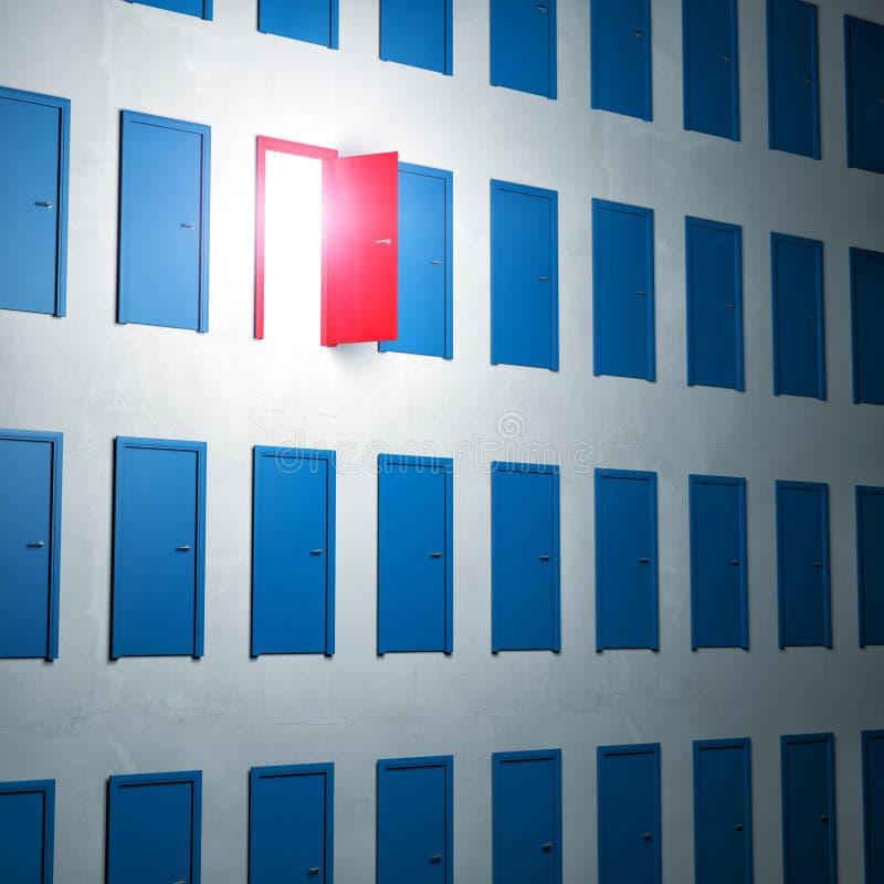 红色choise 皇族释放例证