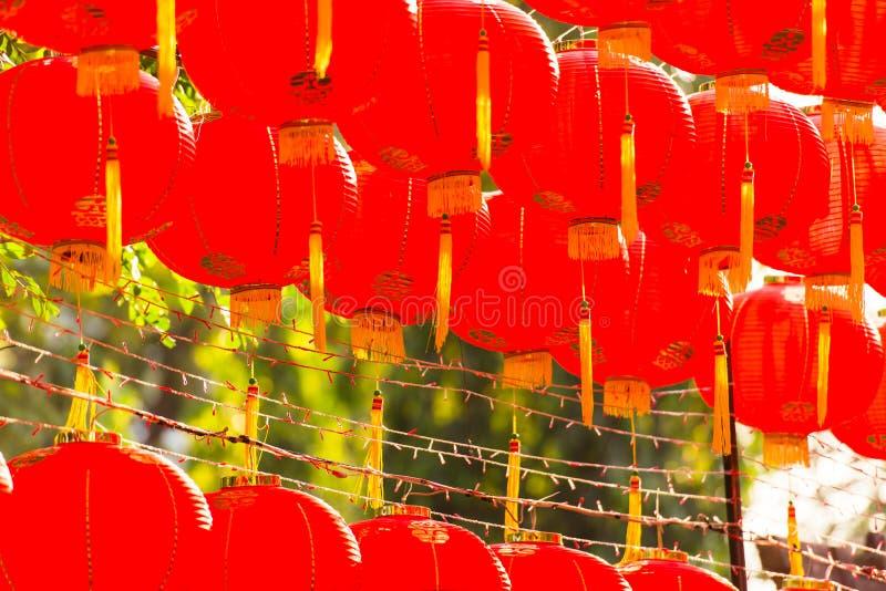 红色comp灯chiness样式 图库摄影