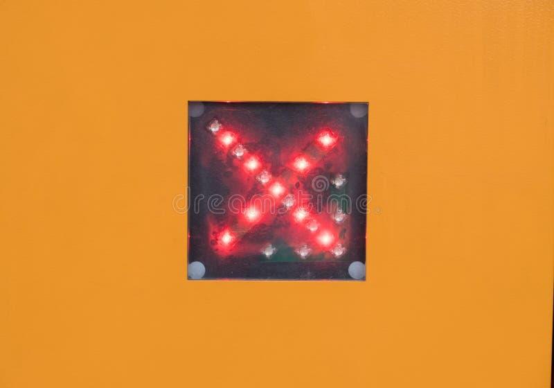 红色LED十字架 库存照片