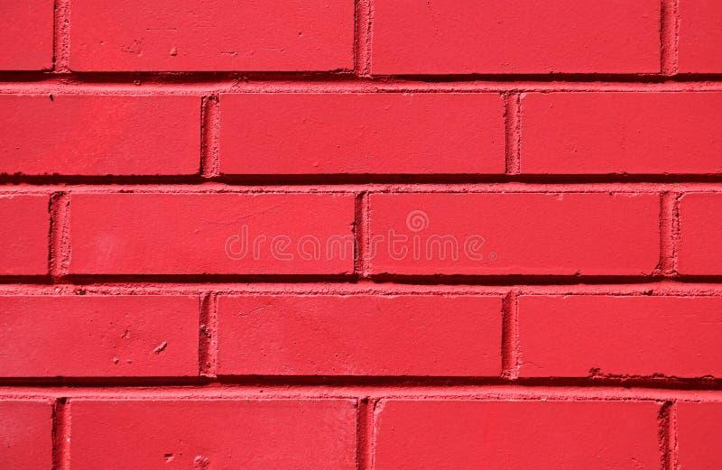 红色peint砖墙 库存照片