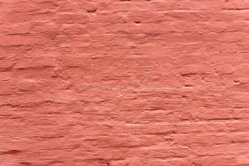 红色pinted墙壁背景 老脏的砖墙水平的纹理 Brickwall减速火箭的布朗难看的东西背景 免版税库存图片