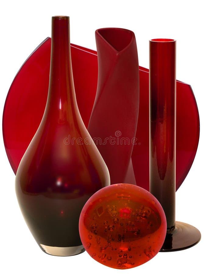 红色s花瓶 库存照片