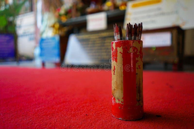 红色seamsi木棍子 免版税库存图片