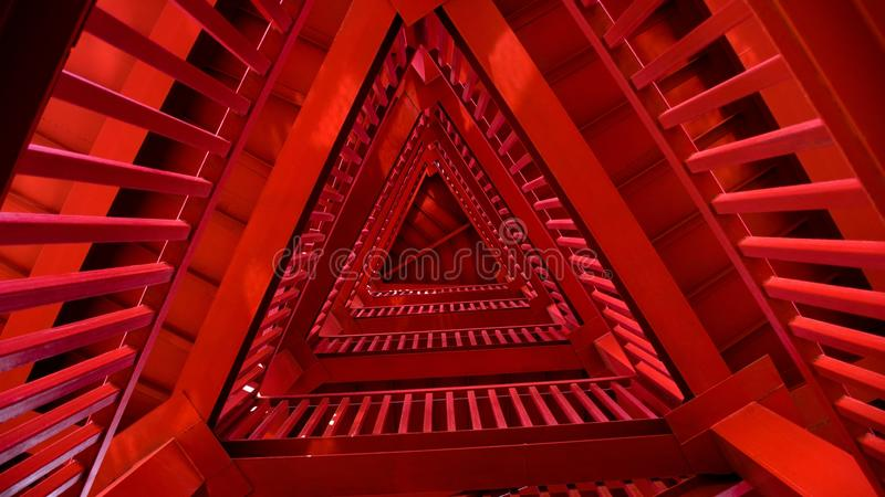 红色trangle塔 库存照片