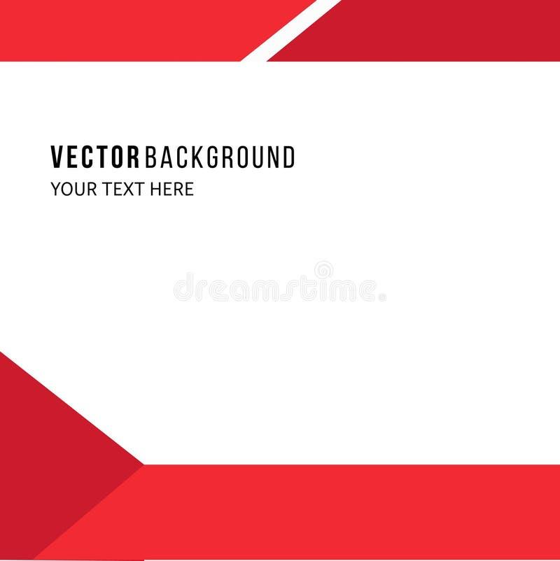 红色vektor背景 库存例证