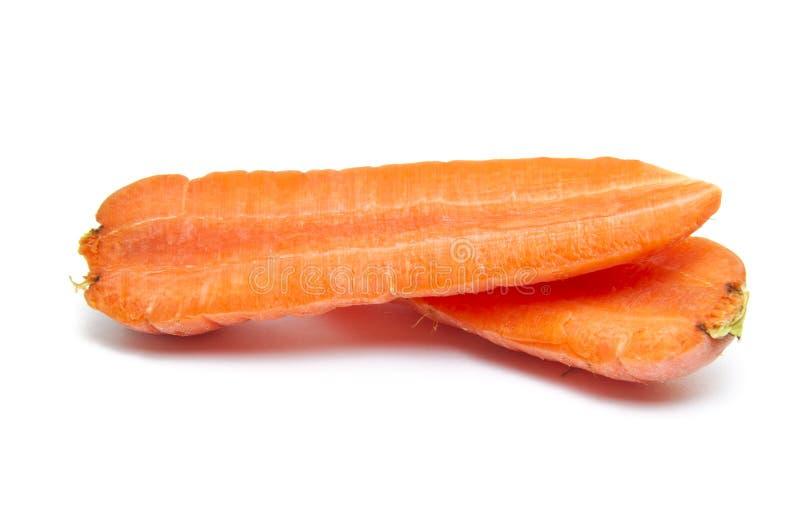 红萝卜一半开张 免版税库存照片