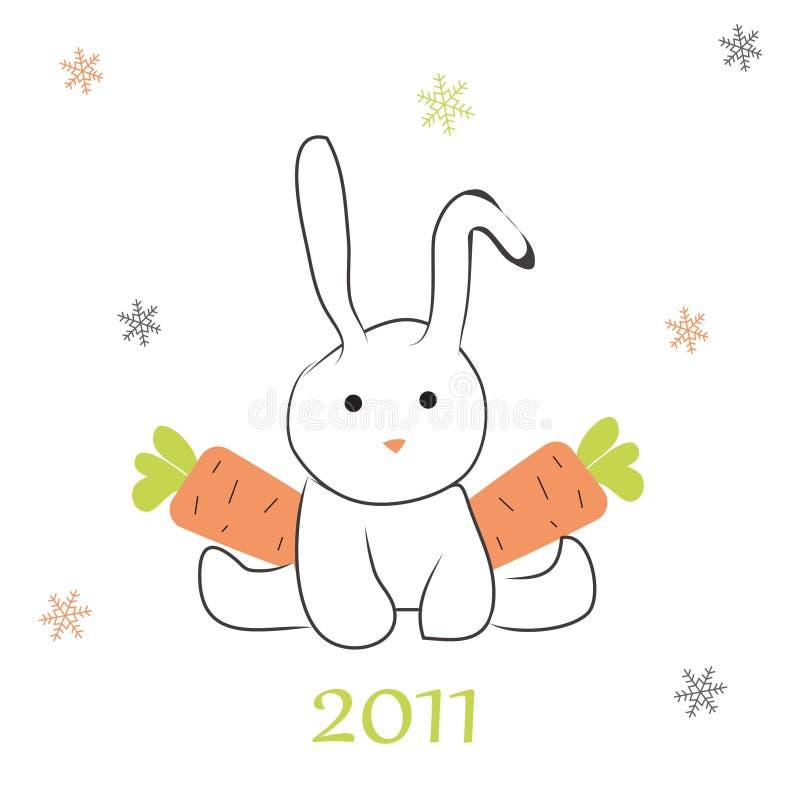 红萝卜兔子 向量例证