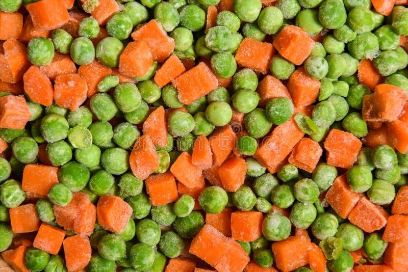 红萝卜冻结的豌豆 免版税库存照片