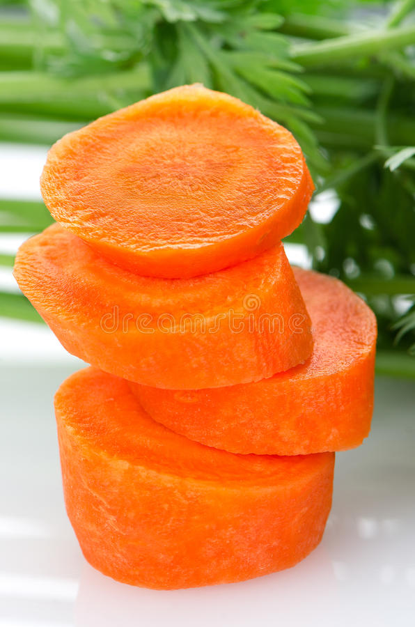 红萝卜堆片式 库存图片