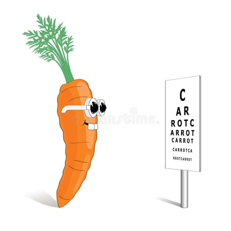 红萝卜好远见 皇族释放例证