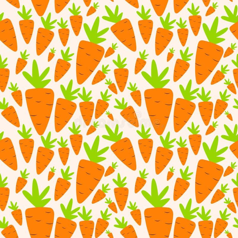 红萝卜无缝的样式背景传染媒介 库存例证