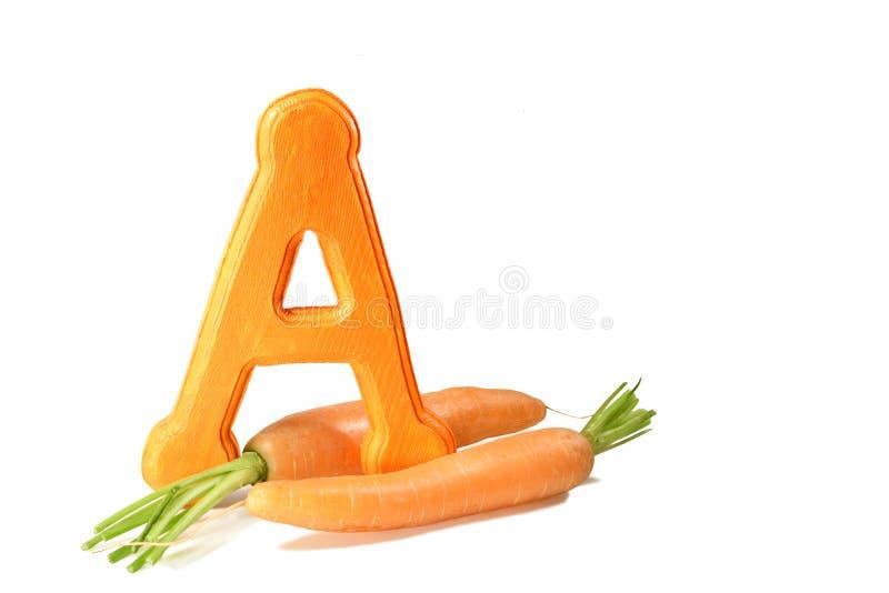 红萝卜来源维生素 免版税库存照片