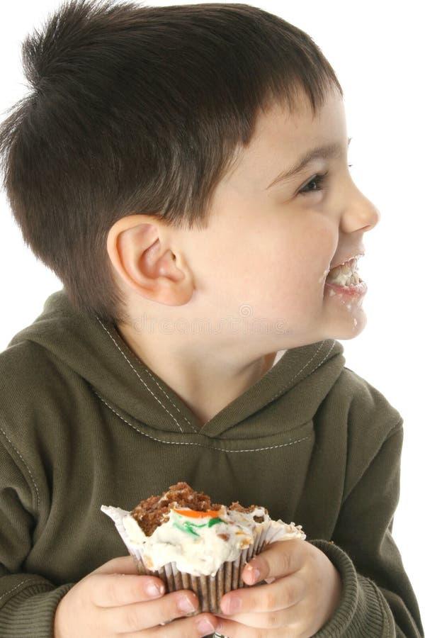 红萝卜杯形蛋糕 免版税图库摄影