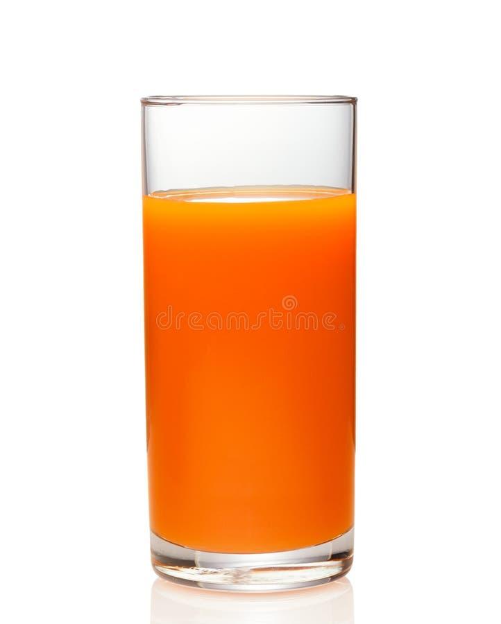 红萝卜汁被隔绝的杯 库存图片