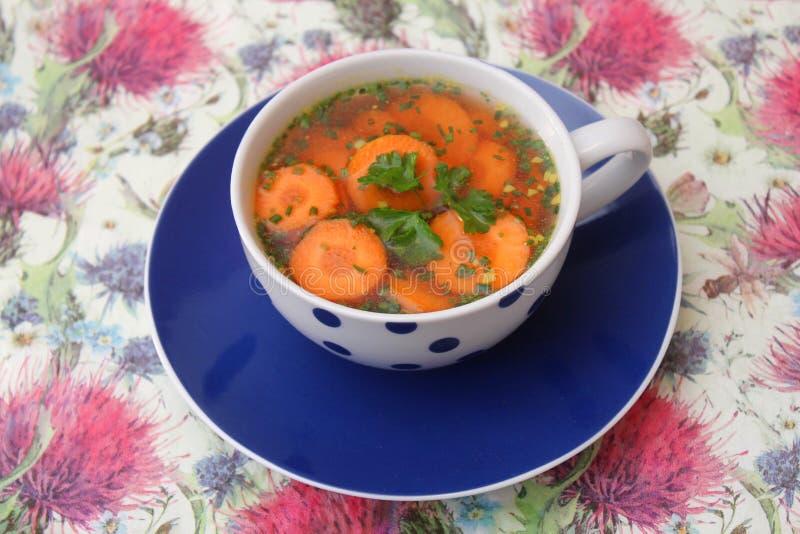 红萝卜汤 免版税图库摄影
