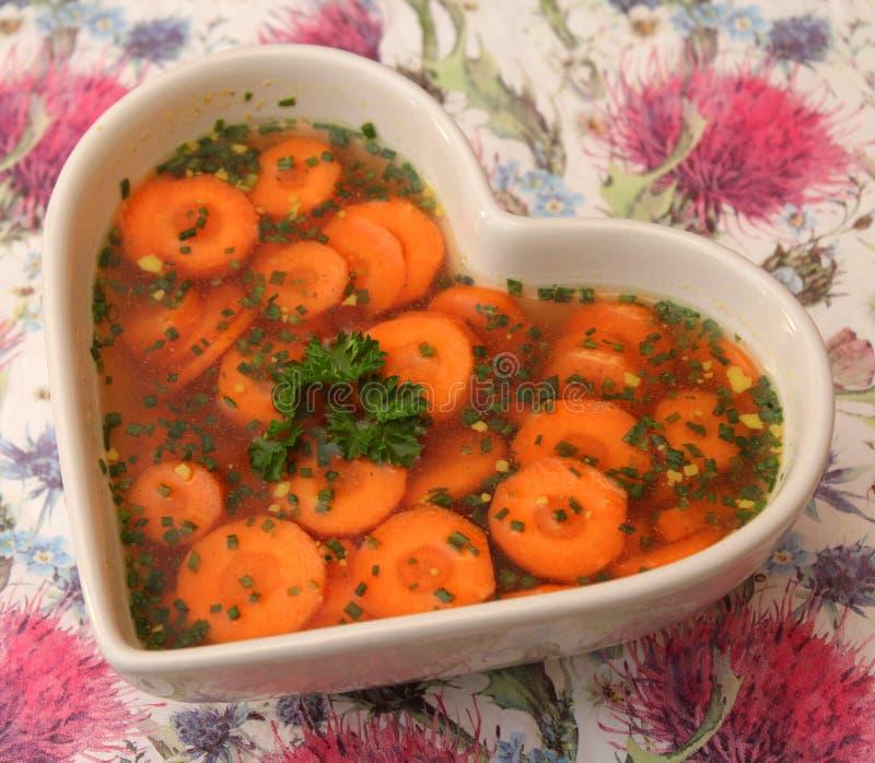 红萝卜汤 免版税库存照片