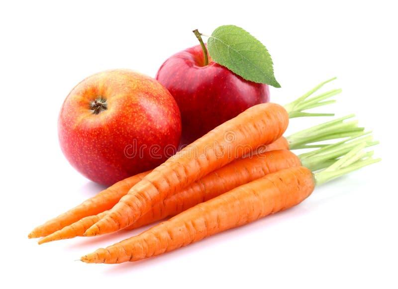 红萝卜用苹果 库存图片
