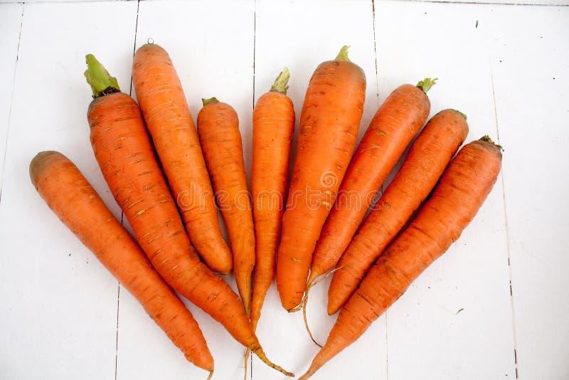 红萝卜食物菜桔子村庄 免版税库存照片