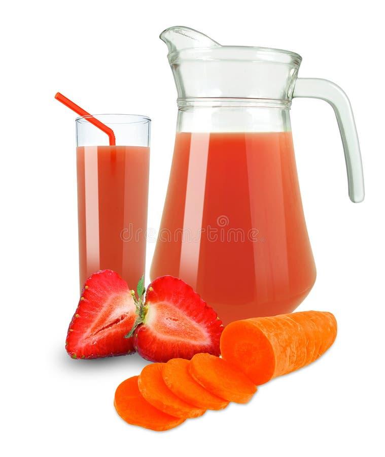 红萝卜-草莓汁 免版税库存图片