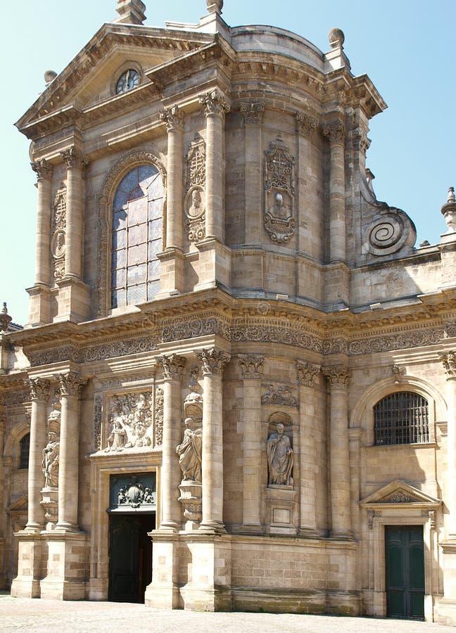 红葡萄酒教会法国贵妇人notre 库存图片