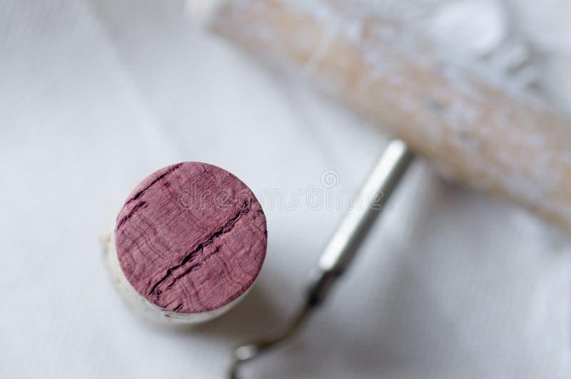 红葡萄酒特写镜头黄柏  免版税图库摄影