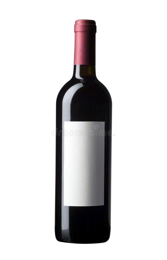 红葡萄酒瓶 免版税图库摄影