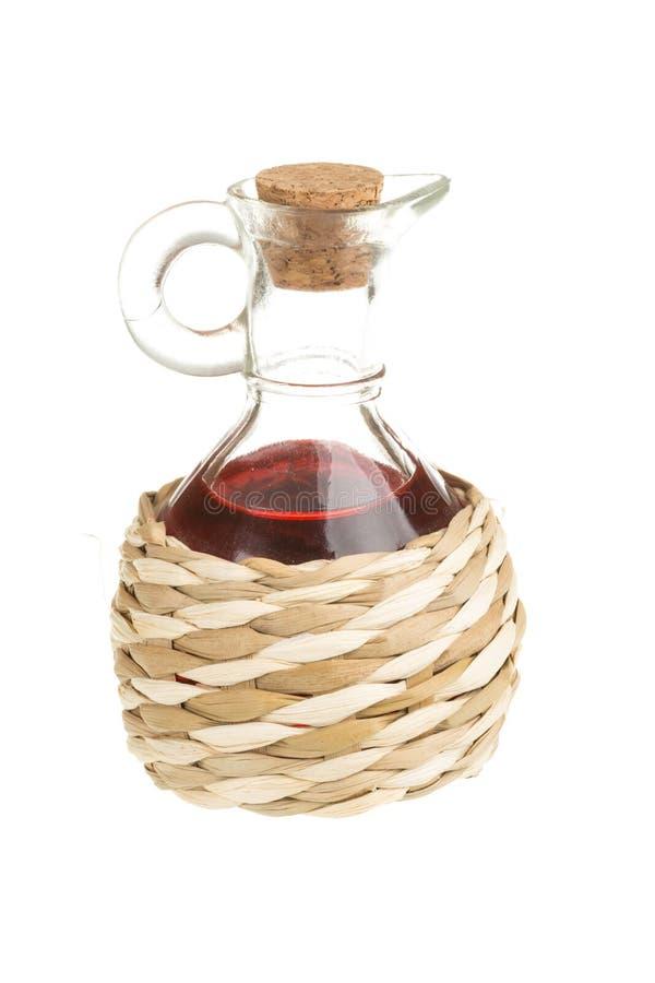 红葡萄酒醋 库存照片
