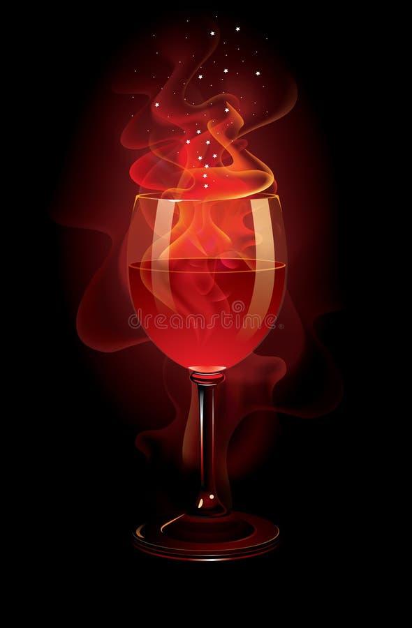 红葡萄酒 库存例证
