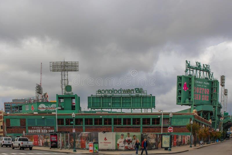 红袜队的芬威球场家在波士顿 免版税库存照片