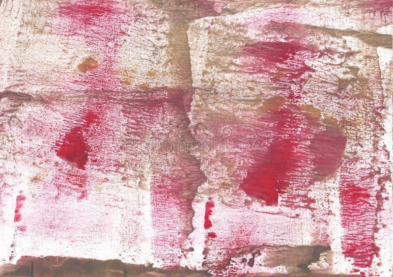 红褐色的被弄脏的水彩样式 库存照片