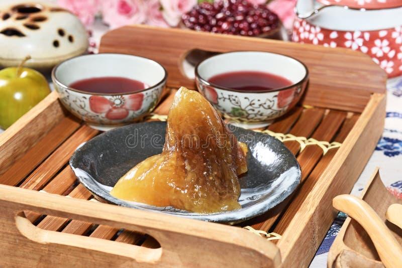 红豆碱性zongzi 图库摄影