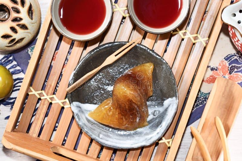 红豆碱性zongzi 免版税图库摄影