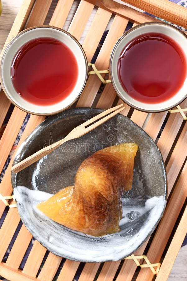 红豆碱性zongzi 免版税库存图片