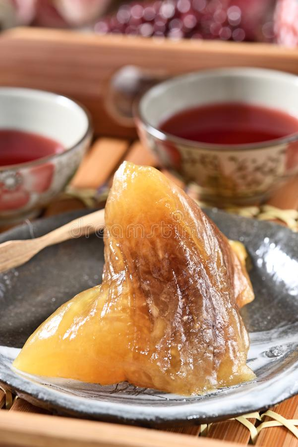 红豆碱性zongzi 免版税库存照片