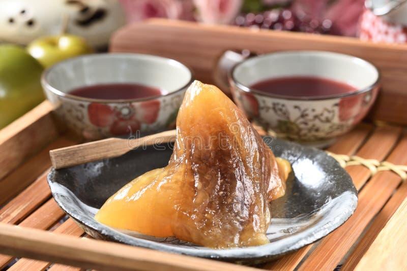 红豆碱性zongzi 库存照片