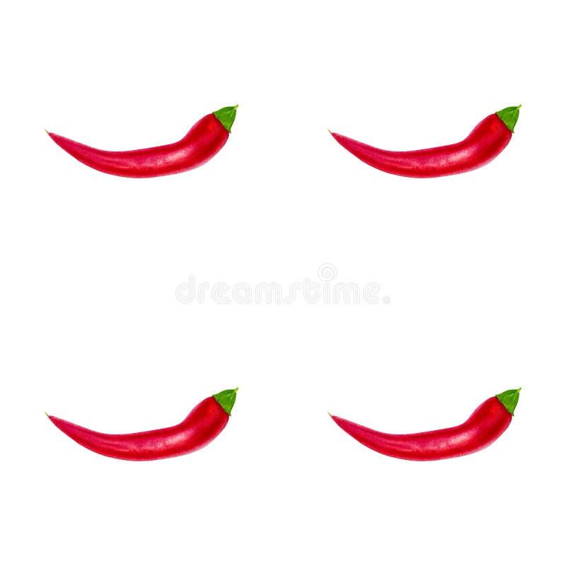红辣椒无缝的样式背景 事务的模板 皇族释放例证