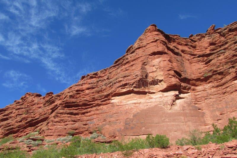 红颜色岩石风景 图库摄影