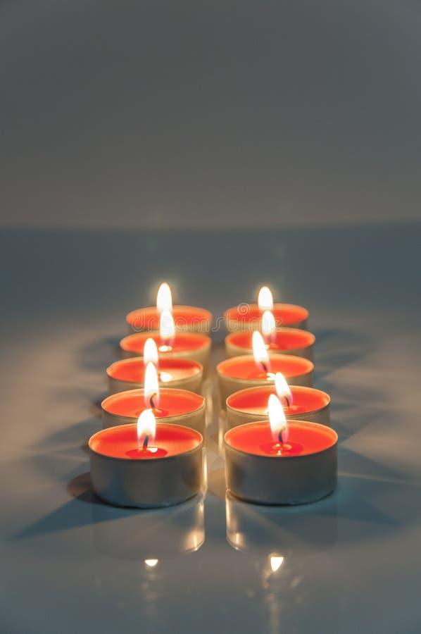 红颜色蜡烛 图库摄影