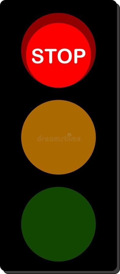 红绿灯中止 向量例证
