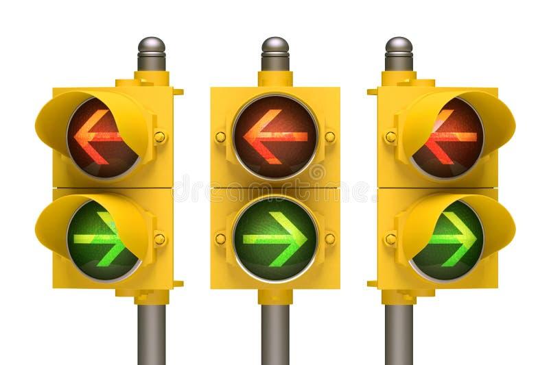 红绿灯箭头 免版税库存照片